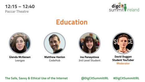 Education Panel at the Digital Citizenship Summit Ireland