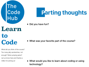 Parting thoughts: Learn to code