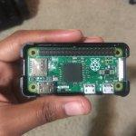 Raspberry Pi Zero in Adafruit case
