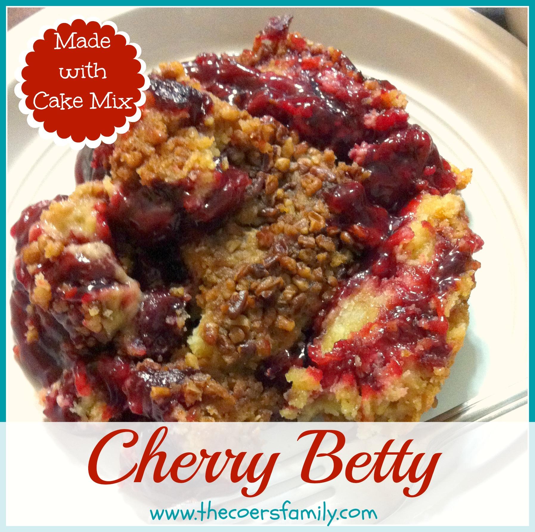 Cherry Dump Cake In Crock Pot With Fresh Cherries
