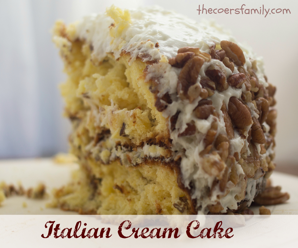 italian wedding cake recipe with mix italian cake with cake mix the coers family 16528