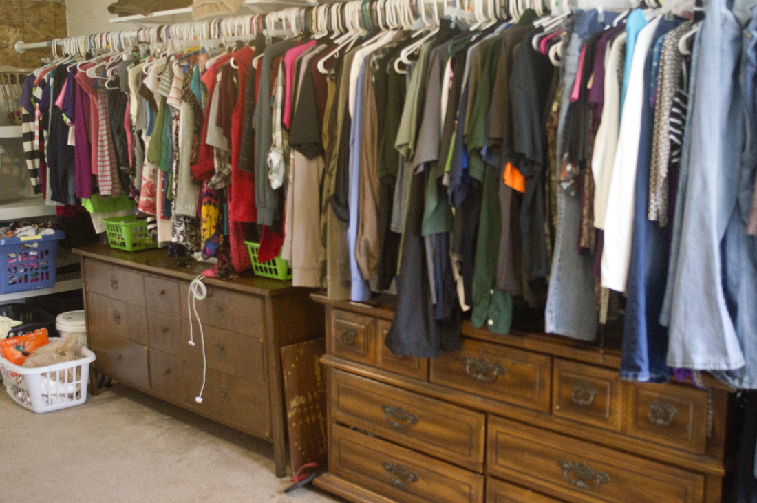 ... Walls With All Our Clothes Hanging Up. We Did Go Through All Our Clothes  And Donated Quite A Bit That No Longer Fit, Or Wasnu0027t Worn On A Regular  Basis.