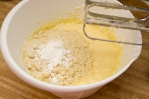 making Trim Healthy Mama Lemon Butter Cake from thecoersfamily.com