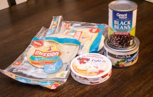 ingredients for Trim Healthy Mama black bean quesadillas