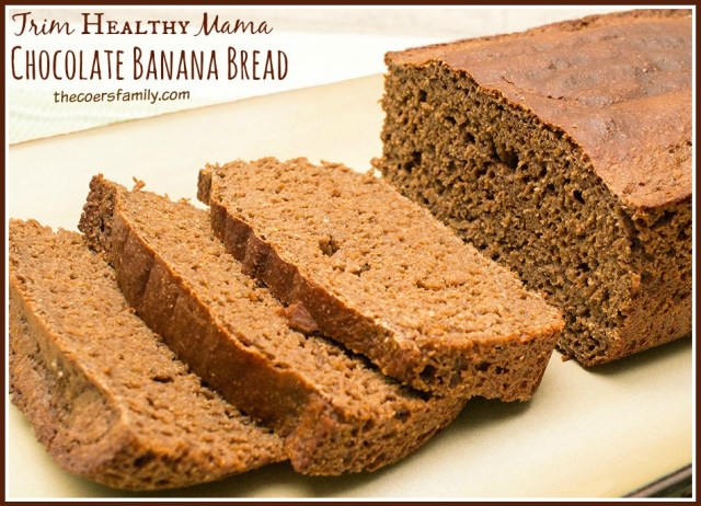Trim Healthy Mama Chocolate Banana Bread (E) from thecoersfamily.com