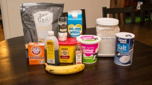 ingredients for Trim Healthy Mama Chocolate Banana Bread