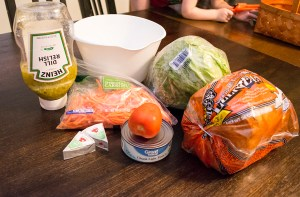 ingredients for a Trim Healthy Mama Tuna Sandwich