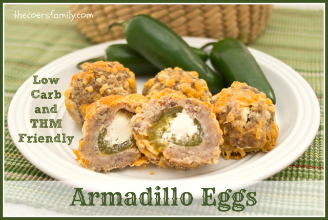 Trim Healthy Mama friendly Armadillo Eggs