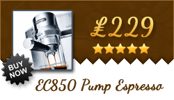 Buy the DeLonghi EC850 for only £239!