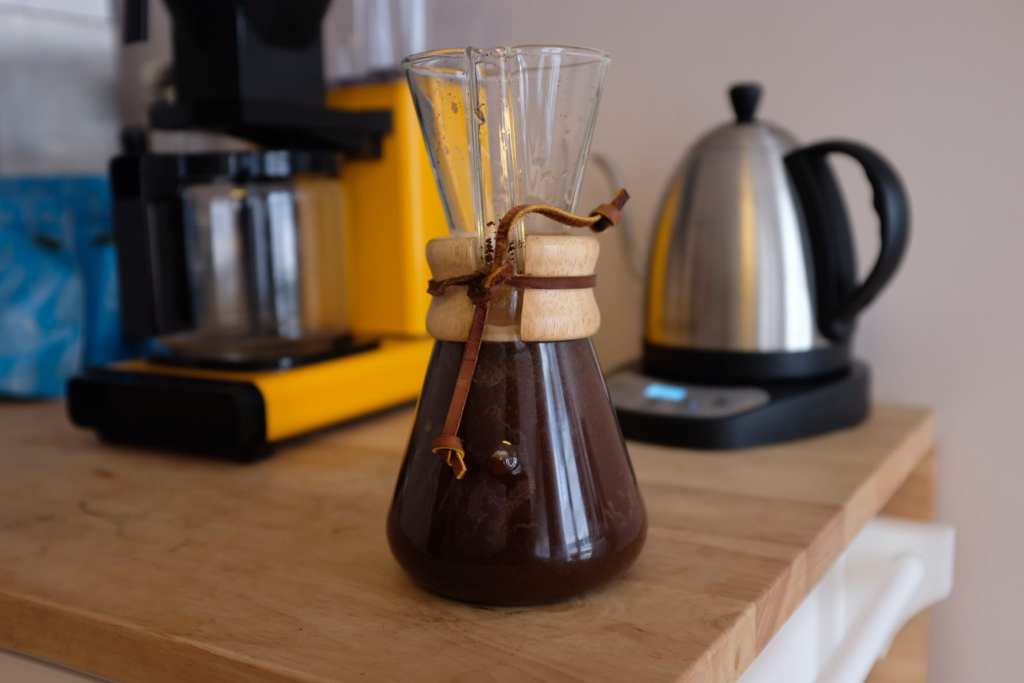 how to make cold brew with a Chemex