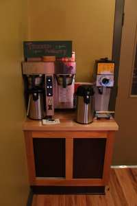 Automatic Drip coffee on the Fetco is an option as well.