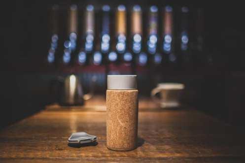 cork travel mug