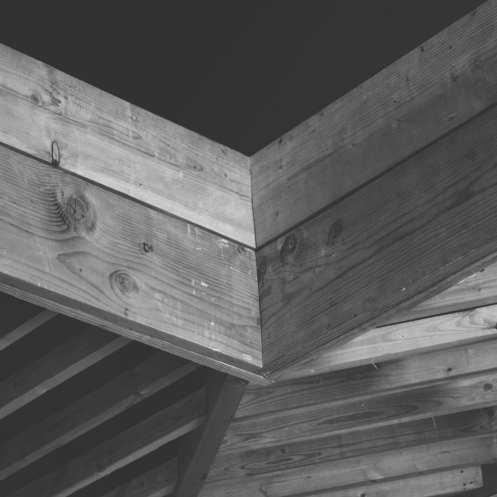 Blacktop Coffee Wood Ceiling