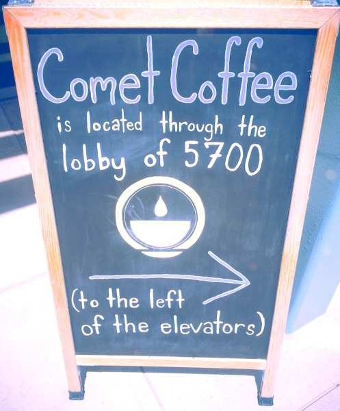 comet coffee sign in St. Louis