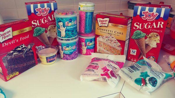 Unicorn Cupcakes: Supplies