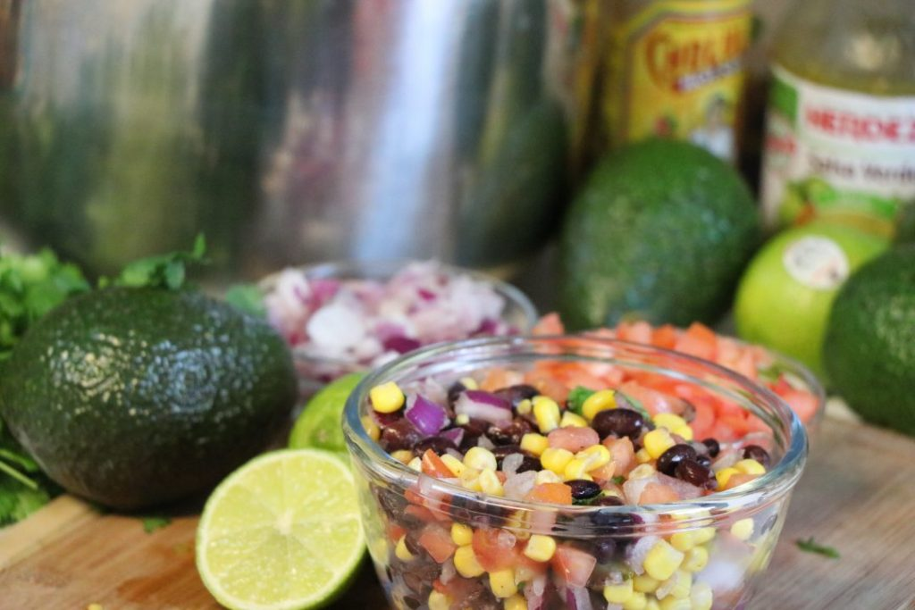 Chipotle inspired black bean corn salsa