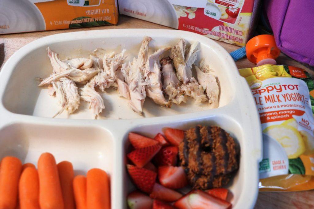 Leftover Chicken healthy school lunch