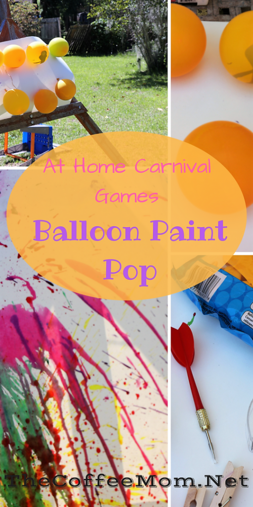 Balloon paint pop carnival inspired game!