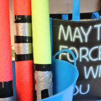 Dollar Tree Pool Noodle Light Sabers