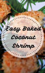 Easy Red Lobster inspired baked coconut shrimp