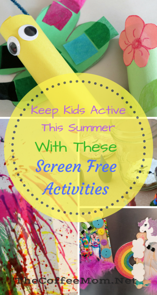 Ways to keep kids active and screen free this summer.