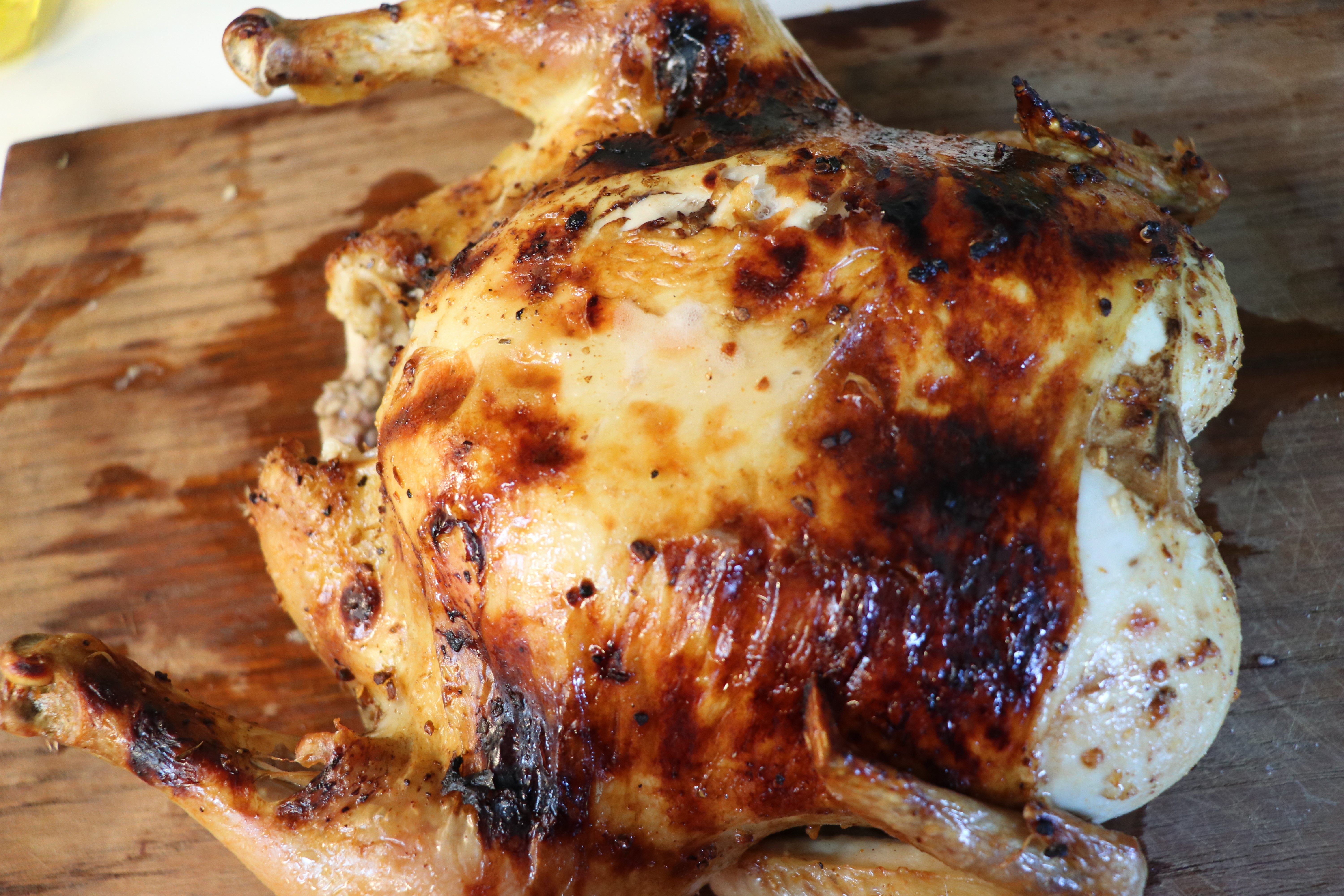 One Hour Oven Roasted Whole Chicken