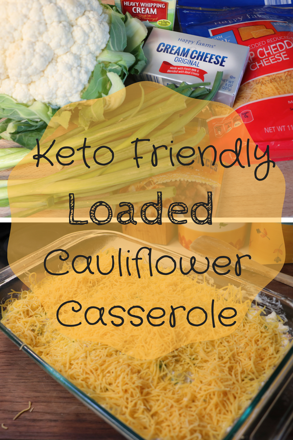 Keto Friendly Bacon and Cheese Loaded Cauliflower Casserole. Healthy low carb dish reminiscent of loaded mashed potatoes. This low carb alternative is just as good, if not better than it's high carb counterpart!