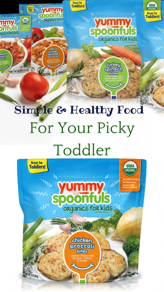 #ad #YummySpoonfuls, #YummyAtWalmart, #IC, The perfect meal solution for picky eaters! Simple organic frozen meals that your picky toddler will love and you will love to give them