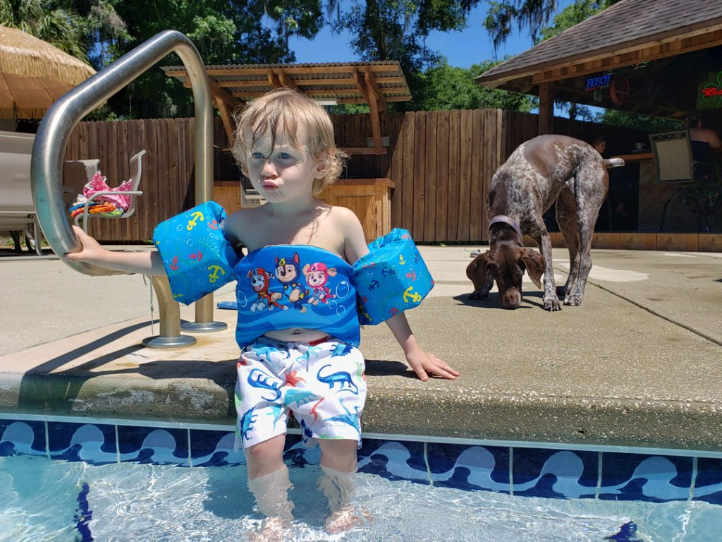 Toddler swim safety tips with SwimWays