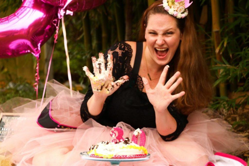 smash cake photo