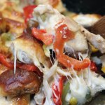 keto chicken Philly bake