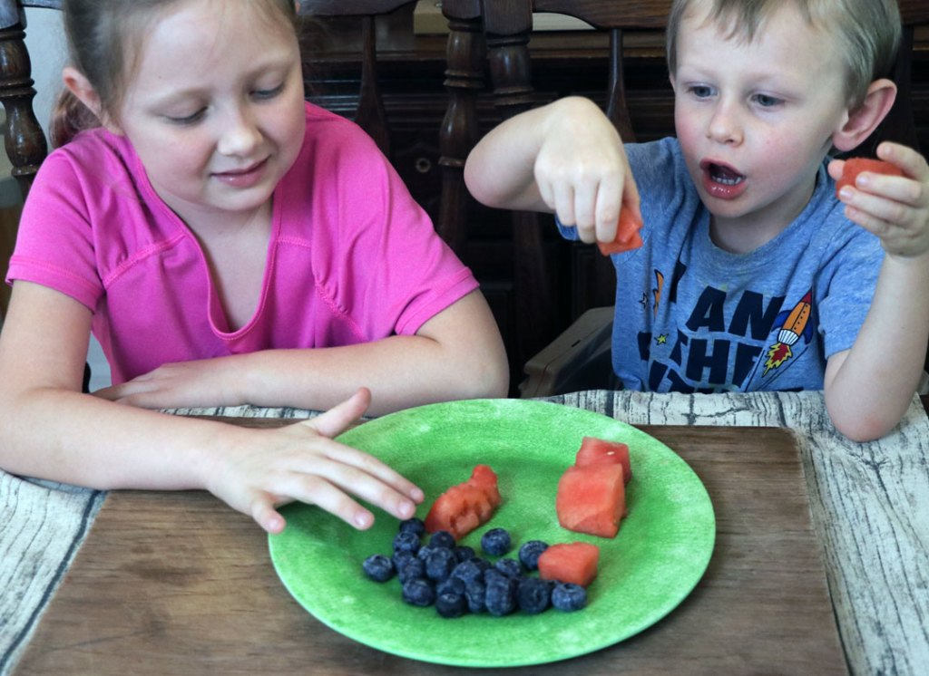 kid friendly fruit tray as an after school snack