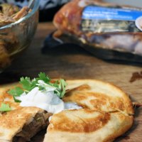 slow cooker pulled pork quesadilla