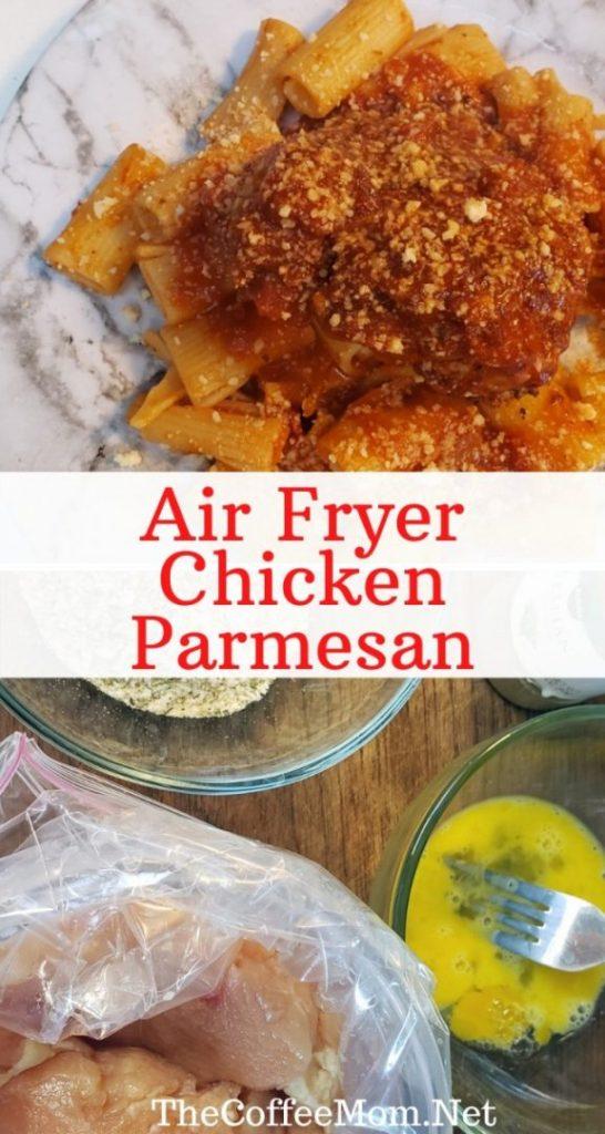 Air fryer chicken parm