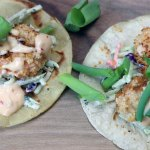 Bang Bang Shrimp Tacos with Creamy Cilantro Lime Slaw