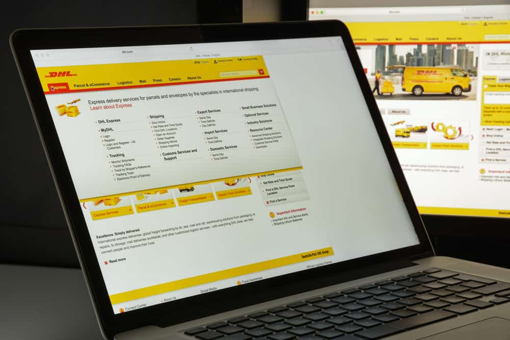 DHL website