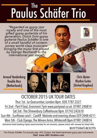 DJango jazz MinersPaul Schafer Trio 5th oct 2015