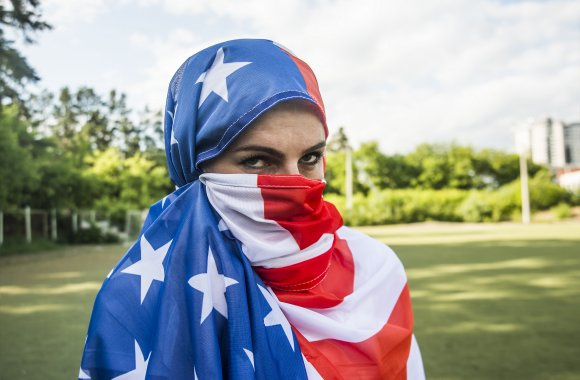 Image result for american flag hijab