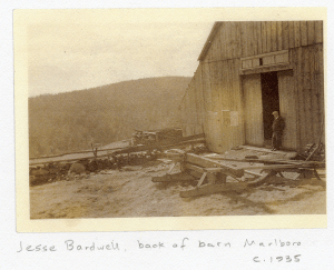 The back of the barn in 1935