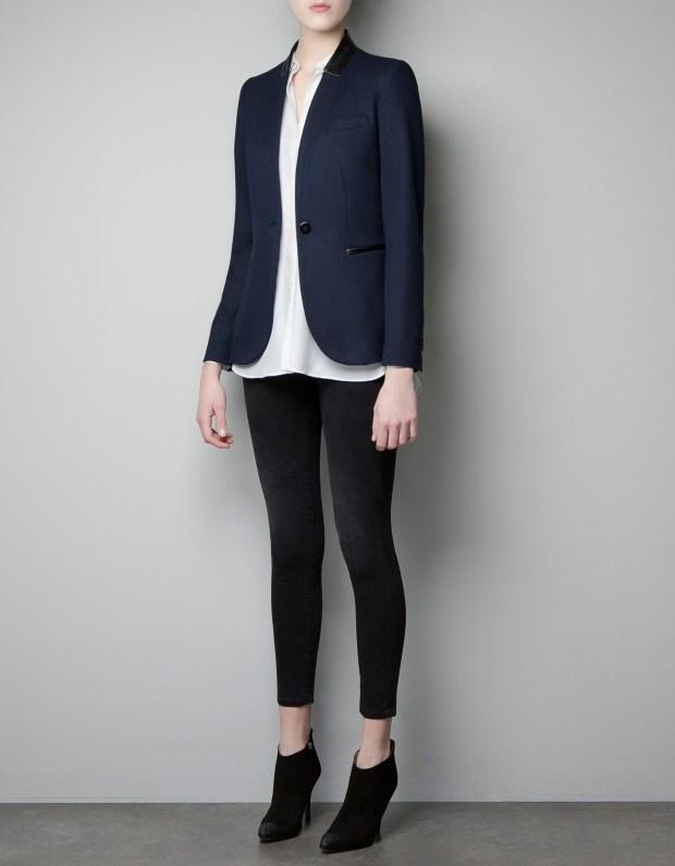 zara-navy-blazer-with-faux-leather-thecolorharmony