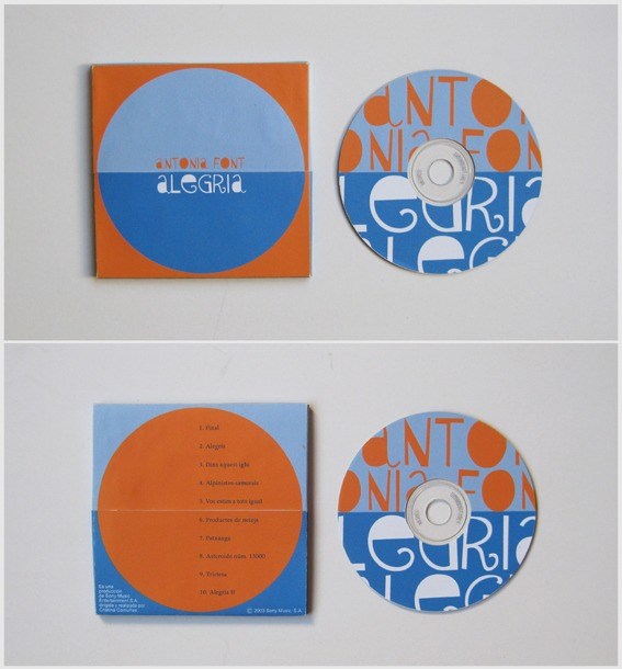 CD cover Alegria front and back