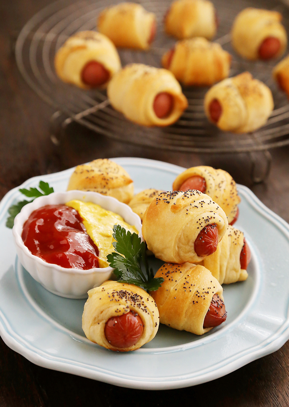 Hot Dogs Wrapped In Crescent Rolls