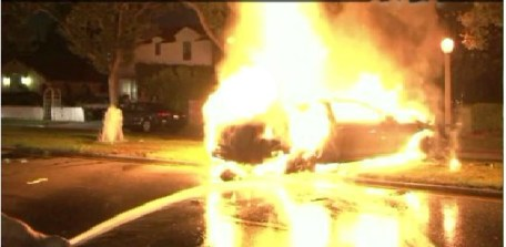 Michael Hastings ran into a tree at speeds in excess of 70 mph, and the front end of the car was not bent back.