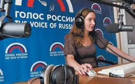 """""""CNN and FOX propagandists have nothing on us."""" Kate Zickel a host for the Voice of Russia."""