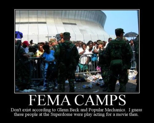 Did anyone notice that last nights History Channel miniseries, Revelation: The End of Days, show the Louisiana Superdome being used as detention facility>