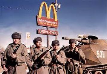 russians invade mcdonalds