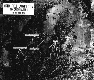 Soviet nuclear missles located inside of Cuba
