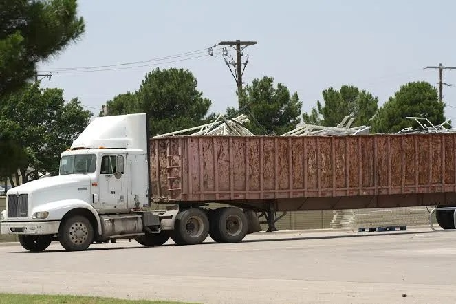 From the Midland, TX. Walmart where they are hauling away the old to make way for the new.  Who are they making room for?