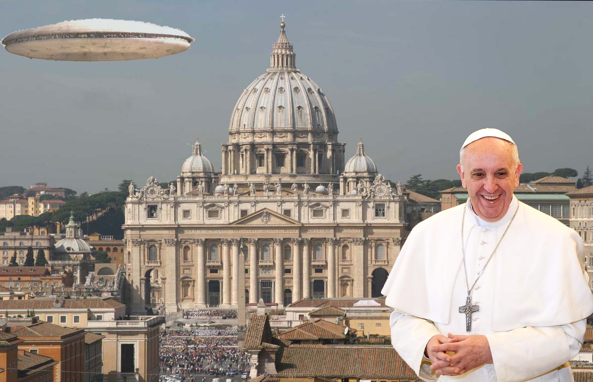 The current pope is no stranger to the topic of ET's an has been very outspoken in his beliefs.