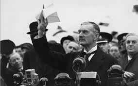 "Following the Munich Accords, Neville Chamberlain mistakenly stated that ""We have peace in our time""."